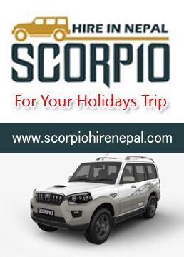 Scorpio Jeep Hire and Rent in  Kathmandu Nepal